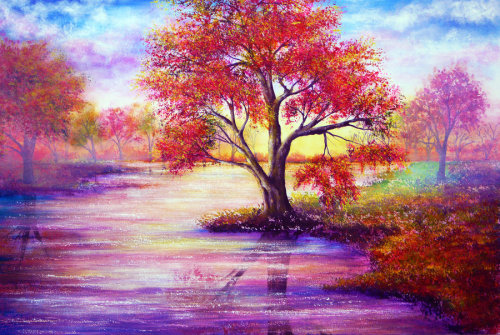 Autumn Waters by AnnMarieBone  Inspiring.