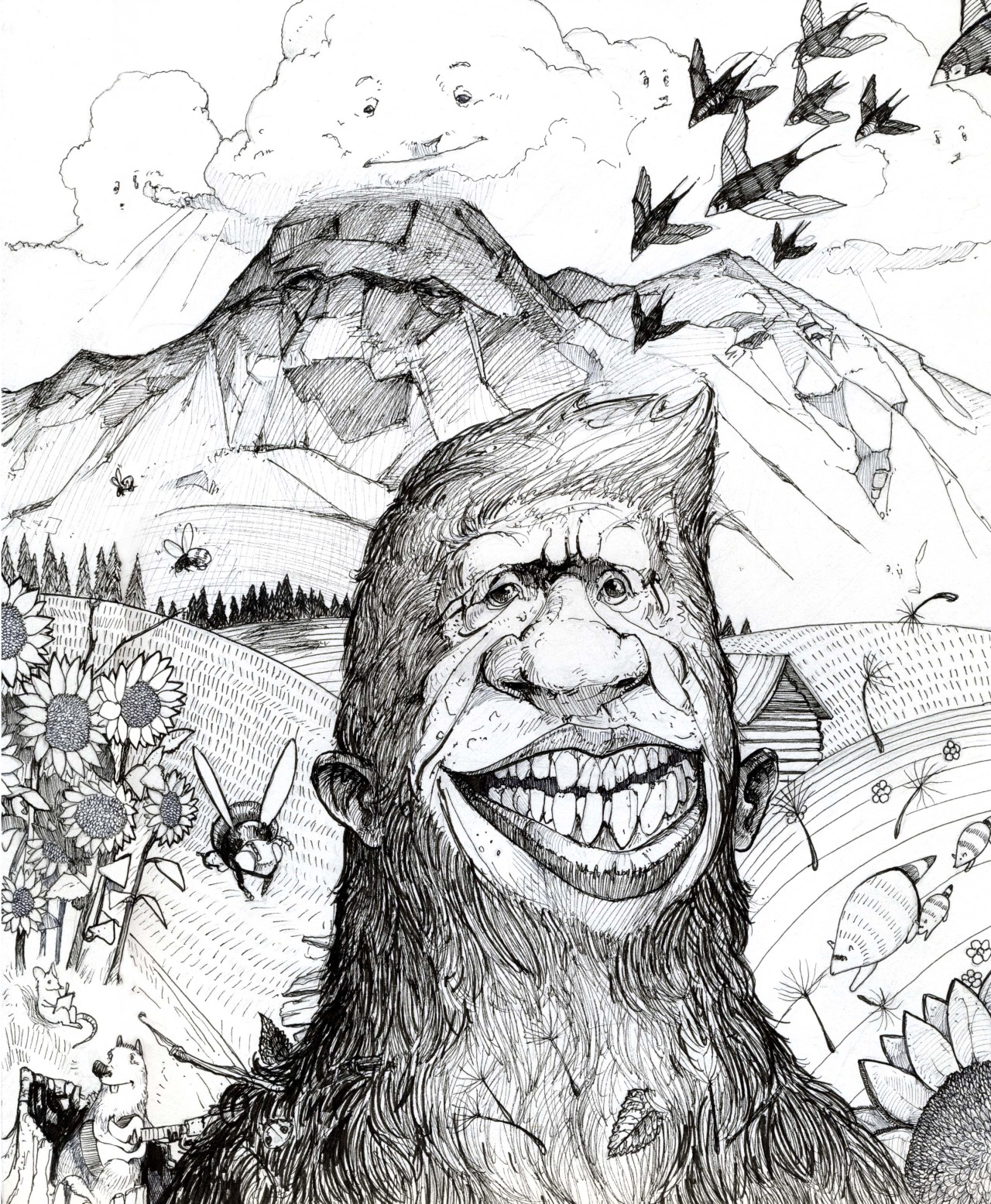 The Wonderful World of Sasquatch! by William Michael Burns www.williamburnsillustration.com