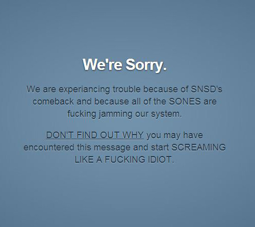 Tumblr is crashing guys.