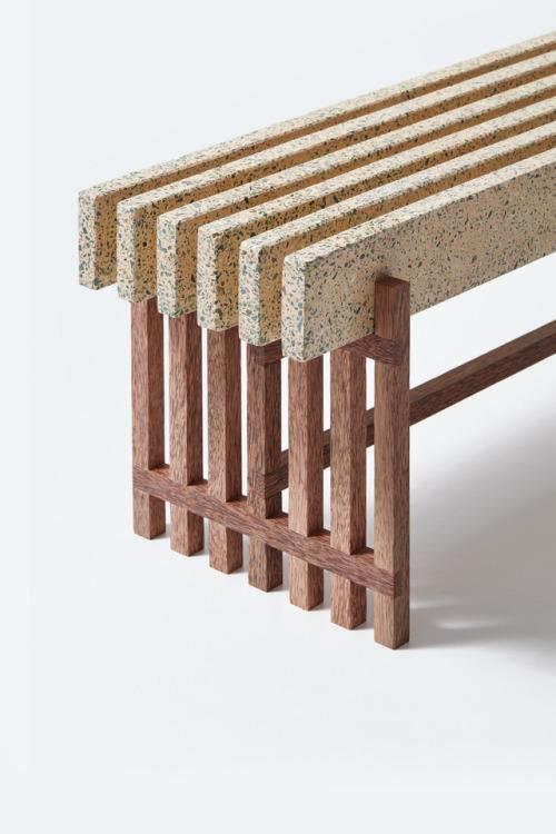 furniture bench terazzo seat pd id