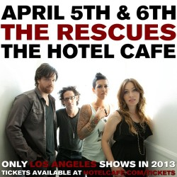 We want to see you at Hotel Cafe 4/5 and 4/6!  Make sure you get your tix in advance because they're going to sell out www.hotelcafe.com/tickets