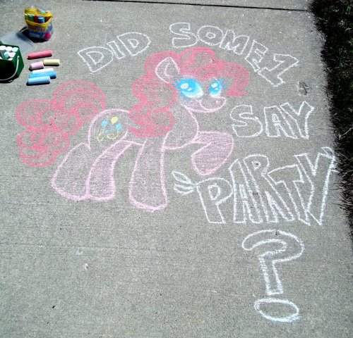 I got into the sidewalk chalk again.