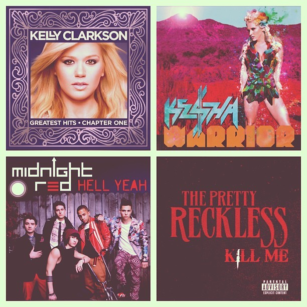 Pretty much the playlist for finals Fall 2012. #kellyclarkson #greatesthitschapterone #kedollarsignha #kesha #warrior #midnightred #hellyeah #flawlessprinces #anthonyladao #coltonrudloff #ericsecharia #joeydiggsjr #thomasaaugusto #theprettyreckless #killme #taylormomsen #finals #goodluckeveryone