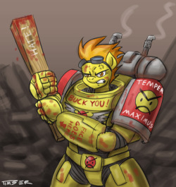 askfirestarterspitfire:   I drew some fan art of you as an Angry Marine. Enjoy!-PluckyNinja  Oh my god. Oh my holy god.