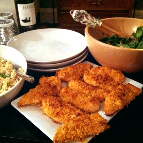 What's for dinner at your home tonight?Kullector Dana made Cornflake Baked Chicken. We approve!http://klct.it/n4Rg5Y