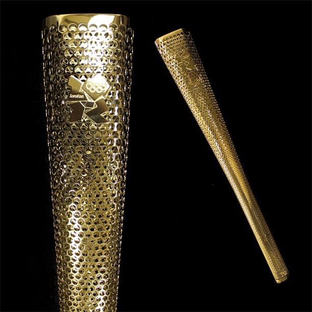 Just arrived! This torch, from the 2012 London Olympic Games, will soon be on display in our Centennial Olympic Games Museum!