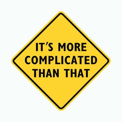 """It's more complicated than that.""  Edward Tufte, Complicated: yellow, print on canvas, 29 ½"" x 29 ½"", edition of 3"