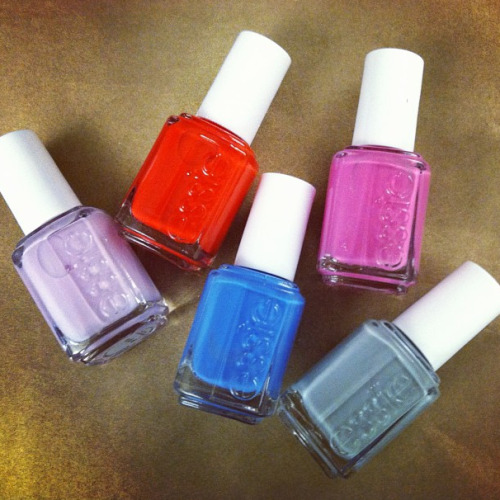 freepeople:  We love these Essie Nail Polish colors as seen on Teen Vogue teenvogue:  Loving Essie's new collection. Perfect shades for spring! Photographed by Lauren Drago.