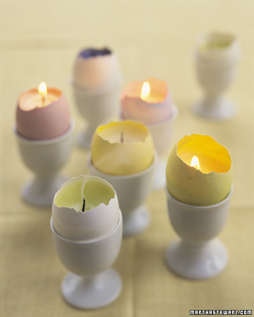 egg shell votives