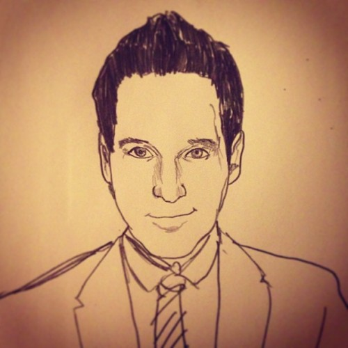 "#sketchaday - Day 309: ""The Ruddster"" #portrait #PaulRudd #sketchblast #5minSucka"
