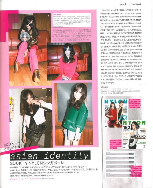 Here are my photos for the shoot I did for Nylon Singapore also featured in Nylon Japan.