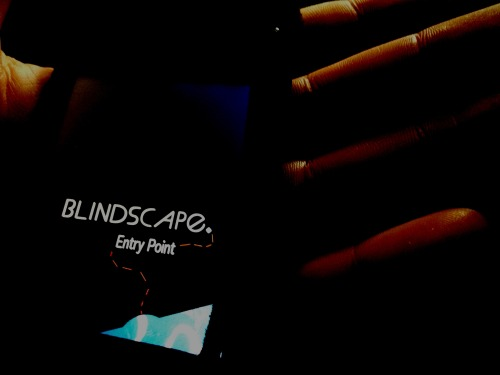Blindscape opens at La Boite Theatre's Indie program in Brisbane this week. This is the second season of this utterly unique hybrid circus work that I co-created as Sound Designer with Skye Gellmann, Kieran Law, Dylan Sale and Gareth Hart in 2012. It's also playing in Sydney and Launceston later this year.  Pictured: The Blindscape app at hand.