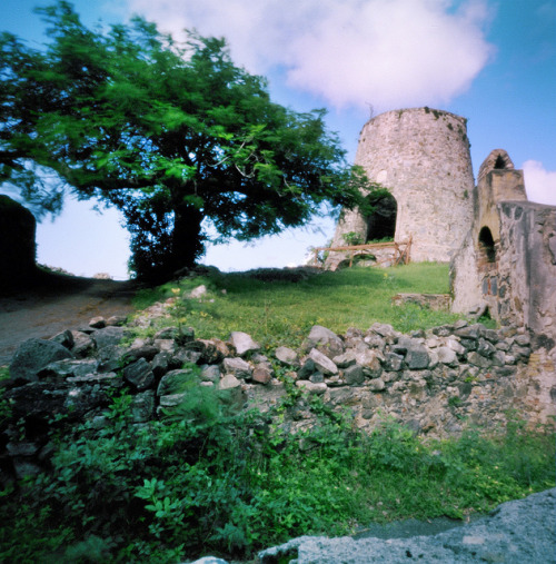 Pinhole: Sugar on Flickr.Annaberg Sugar Plantation, St. John, Virgin Island Wrote about it awhile ago here:www.squarepegpinhole.com/2010/11/st-john-is-sugar-sweet-p… f235, Kodak Portra something or other, probably about a second