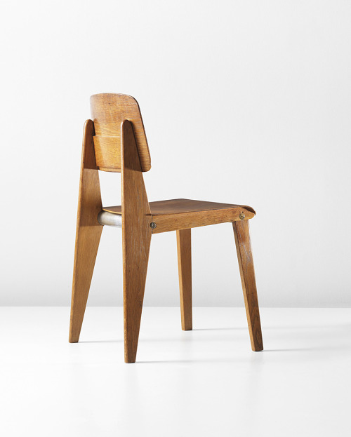wishflowers:  redhousecanada:  JEAN PROUVÉ Rare demountable wooden chair, model no. CB22, 1947   a Prouve chair is always a reblog