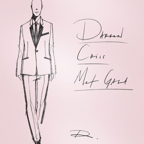 fresherthanchris:  @Richardchai designed a custom tux for Darren Criss for the Met Gala tonight. #menstyle #richardchailove #fashion #metgala #darrencriss #metgala #tuxedo