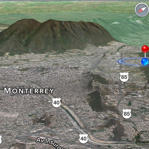 lol at the cool graphics that come up on my GPS #bored #cantsleep #monterrey #mexico #mountains #elserrodelasilla