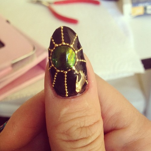 nail-swag:  I like my beetle wing sun thumb the most I think ☺💅 #nailswag #nails #nailart #nailartclub #naillabo #swag #LA