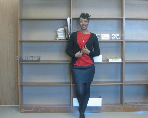 Wearing handmade (blouse & skirt) again! Intern @brooklynpublic Brooklyn, NYC