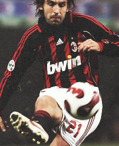 Players I played as in the playground: Andrea Pirlo