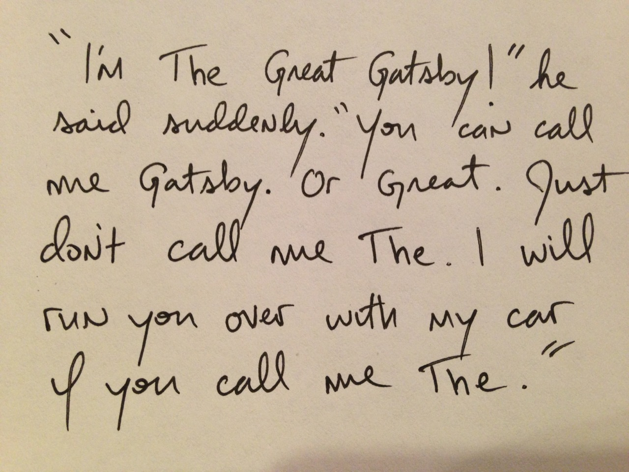 shitroughdrafts:  The Great Gatsby, by F. Scott Fitzgerald. 1925.