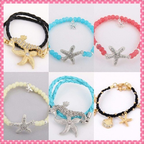 ★☆Starfish bracelets☆★ They will be added to my shop later tonight for $5 plus shipping. If you would like one leave your paypal email below to be the first one to recieve as these are limited quantity. #instadaily #tagsforlikes #starfish #nautical #mermaid #mermaidlife #siren #jewelry #cherrycupcakesshop #fashion www.cherrycupcakes.storenvy.com