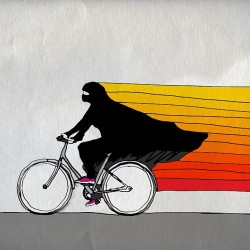 orangexmagenta:  مبروك!  #saudi #women #biking #حلال