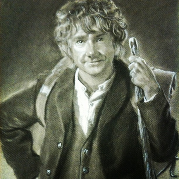 Beautiful pencil drawing from #sfotr #bilbobaggins #lotr