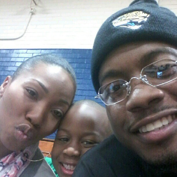 Me,lil kenny, and @ninanicol3 duckedoff at @flexin_finessen basketball game