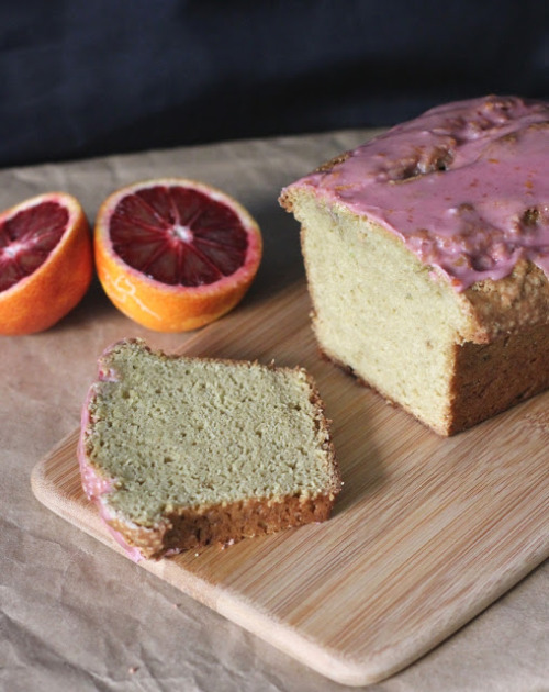 avocado pound cake with blood orange glaze click here for recipe