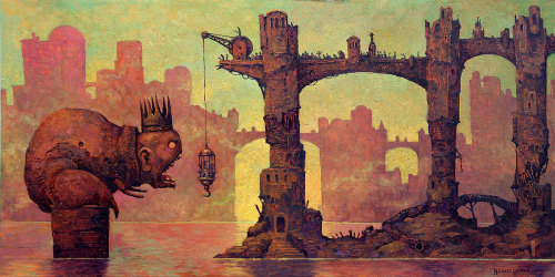 red-lipstick:  Michael Hutter - Pavor Nocturnus, 2013       Paintings: Oil on Wood Panel http://www.octopusartis.com/imgPopUp.php?imgID=405
