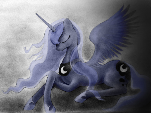 theponyartcollection:  Luna by ~Longren