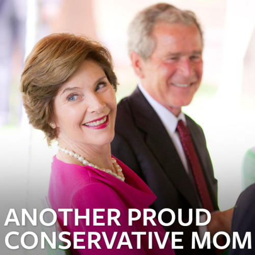 Laura Bush is a wonderful example of a proud conservative mom.Tell us why your mom is a Mom of the Year: http://ow.ly/kLErU