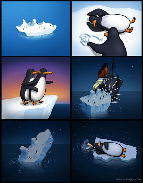 tastefullyoffensive:  [maneggs]  Paint me like one of your French penguins