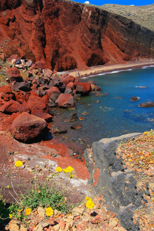 Red beach in Santorini By Marite2007