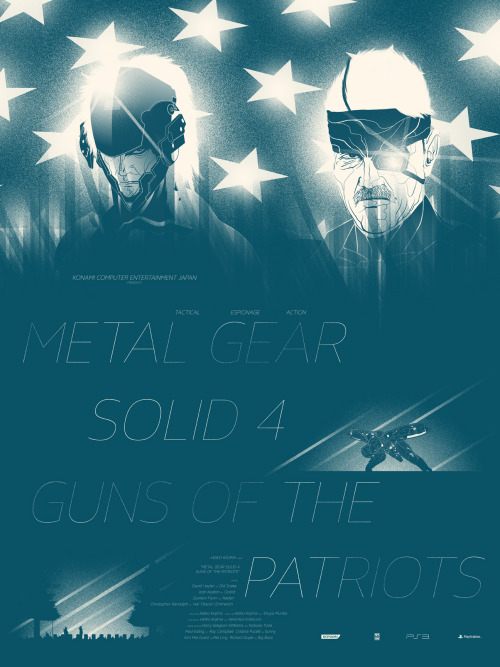 marinkoillustration:  New Metal Gear Solid 4 print up for sale!  Here: http://marinkomilosevski.bigcartel.com/  18x24 print, edition of 200. Buy the whole set!