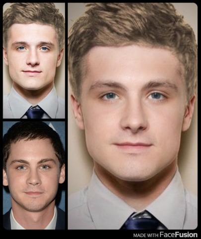 ethanstheatre:  Josh Hutcherson and Logan Lerman's faces morphed…omg I'm dead!