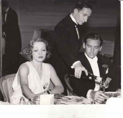 "Dietrich and Fairbanks in London. """"I was in love with her. Marlene was in love with Marlene. It lasted for about two years. My role was that of the grateful admirer,"" Fairbanks later recalled."