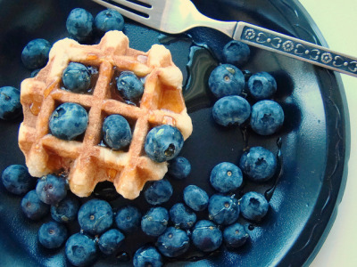 Blueberry Waffle by Vegan Feast Catering on Flickr.