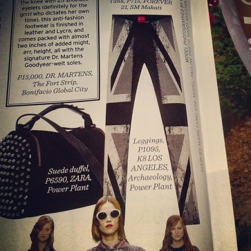 Our #unionjack #leggings in @PreviewTheStyleBible | #fashion #igersmanila #previewmag #love #powerplantmall #makati