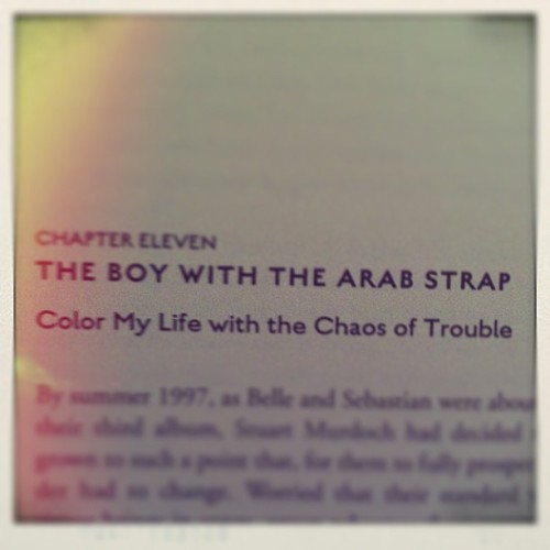 """color my life with the chaos of troule"" #belleandsebastian #books"
