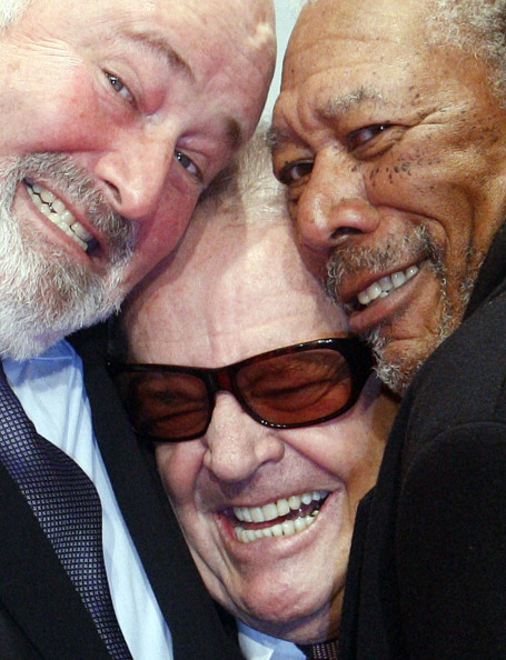 imwithkanye:  Say… This photo of director Rob Reiner, Jack Nicholson and Morgan Freeman is everything.