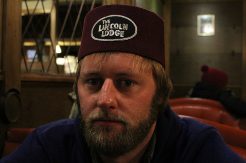 Rory Scovel rocking a signature Lincoln Lodge Fez Hat