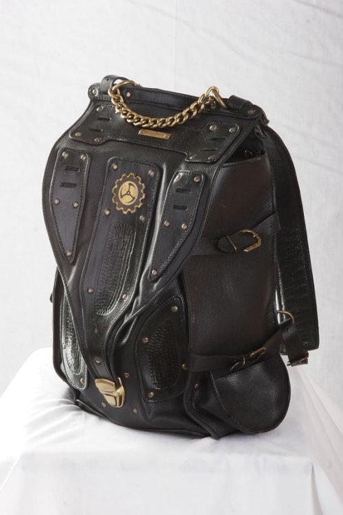 industrial cyberpunk post apocalyptic leather fashion black fashion