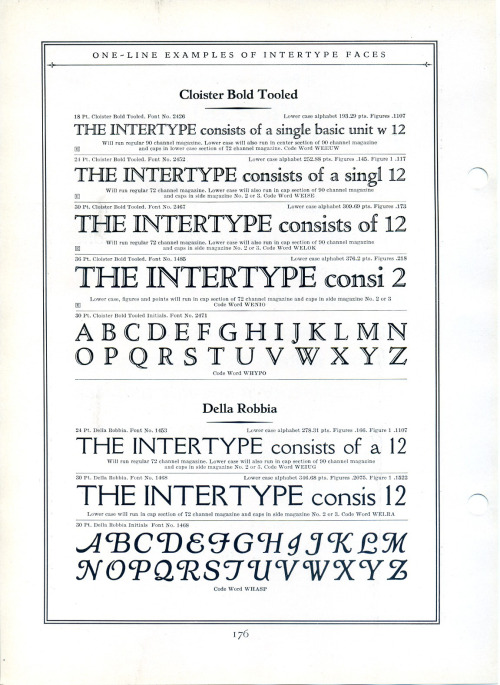 Intertype produced Cloister Bold Tooled in 1920. There was not a corresponding ATF font.