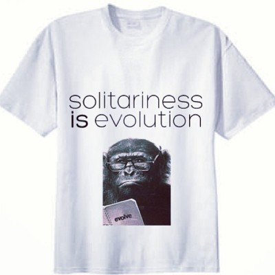 Haha I need to get this printed and spread the philosophy. #evolution is #extinction