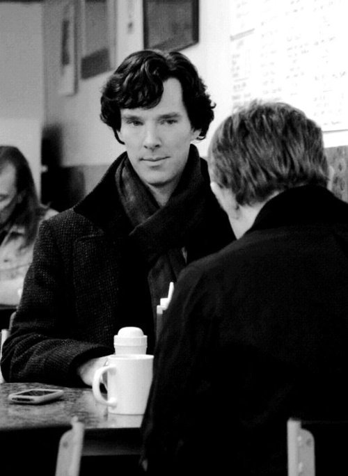 earlgreytea68:  cumber-porn:  samminger:  My Favorite Johnlock Photo  looks like Sherlock's hungry but not for food ….  This is a great photo. If this were an actual photo, this would be the one John frames, I think.