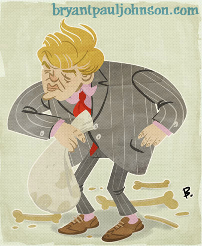 My glamorous take on the famous American Plutocrat, The Donald.