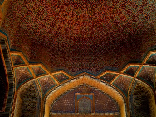 Domes and Arches of Shah Jehan Mosque, Thatta, Pakistan