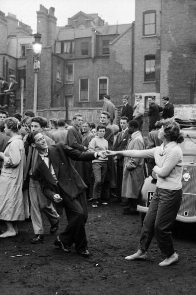vintagechampagnefever:  London kids jive dancing in a Soho car park (1956)
