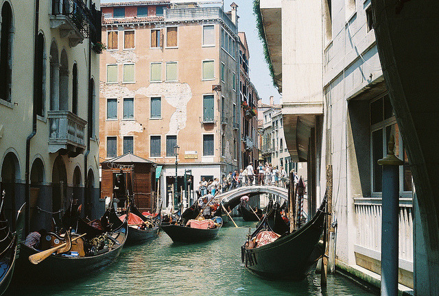 | ♕ |  Venice - Rush hour in canal  | by © Carrie Davis